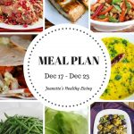 Weekly Meal Plan Dec 17 - Dec 23