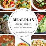 Weekly Meal Plan Jan 21