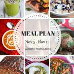 Weekly Meal Plan Nov 5 - Weekly Healthy Meal Plan Oct 29 - Nov 4 - breakfast, lunch and dinner recipes and ideas to help get healthy meals on your family