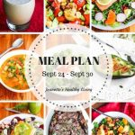 Weekly Healthy Meal Plan Sept 24 - Sept 30 - Weekly Healthy Meal Plan Sept 24 - Sept 30 - breakfast, lunch and dinner recipes and ideas to help get healthy meals on your family