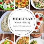 Weekly meal plan mar 18