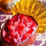 Cranberry Pear Sauce - this easy cranberry sauce can be ready in just 15 minutes; it can be made ahead of time for Thanksgiving