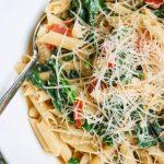 Spinach Tomato Parmesan Pasta © Jeanette