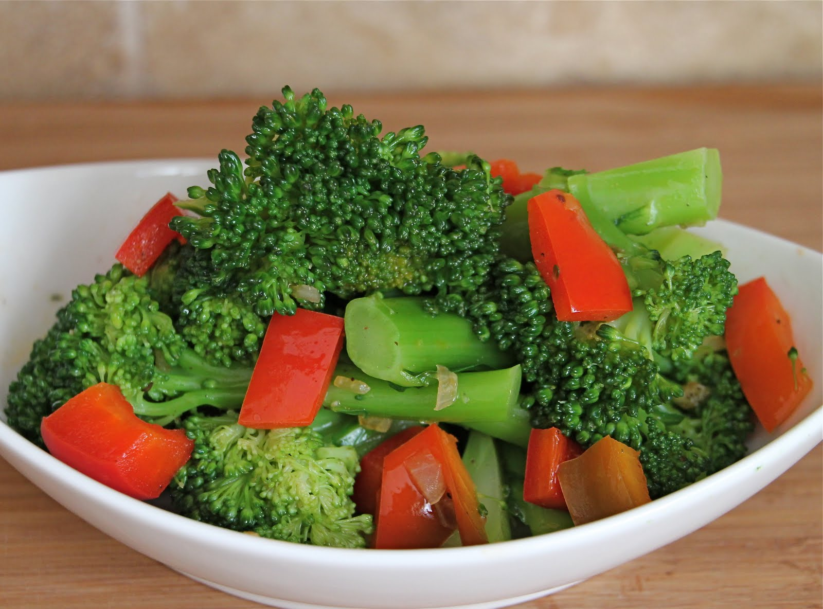 Sauteed Broccoli And Red Bell Pepper Recipe Jeanette S