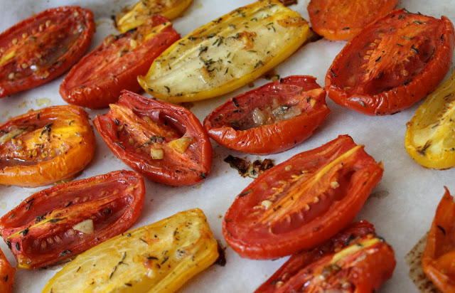 Juicy Oven-Roasted Plum Tomatoes