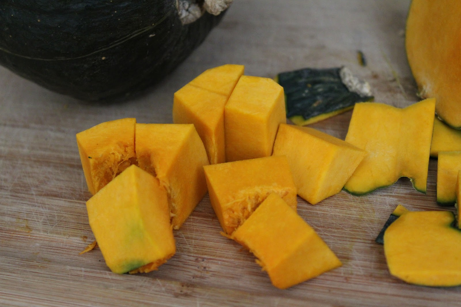 Cut squash into desired size pieces