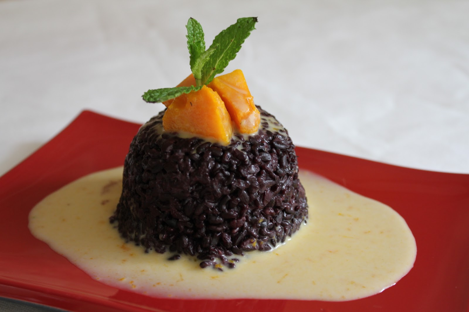 Thai Black Sweet Rice with Kabocha Cream