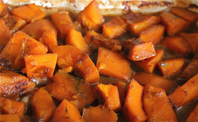 Sugar and Spice Roasted Squash